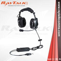 탄소 섬유 조종사 항공 헤드폰 Bluetooth 헤드폰