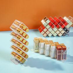 Alimentação de fábrica Maquillage Transparente De Luxe Pochette Rouge um organizador de Batom Levres espelho cosmético Organizador de plástico de acrílico