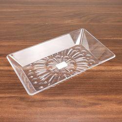 朝食不可の透明アクリルフルーツディナープレート
