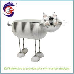 Conception unique matériau métallique en forme de chat Pot de fleur de l'artisanat