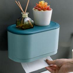 precio de fábrica barata Taschentuchbox Mouchoirs Boite a artículos de tocador de cuadro de tejido en la pared de baño Organizador de pared