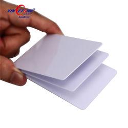 Barata de plástico blanco con tarjeta de identificación de PVC plastificado satinado para impresión la impresora térmica
