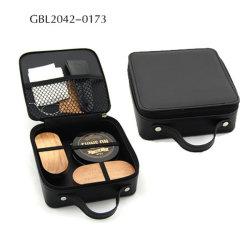 Cuero de alta calidad viajar ligero maquillaje maquillaje de belleza Caso Caja de cuero de regalo