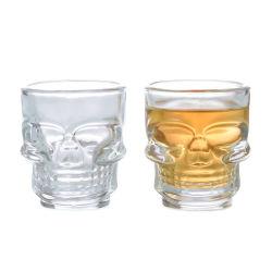 Mini-Vidro Vazio limpar óculos de Tiro Crânio em forma de cabeça 50ml/1.5Oz Shot copo de vinho Copo de vidro Whisky Vodka Vidro potável