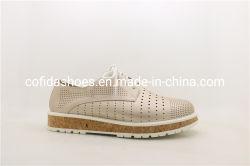 旅行女性のための偶然のウェッジヒールの女性作業靴