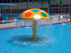 Водный Парк цвета гриб материал из стекловолокна для продажи