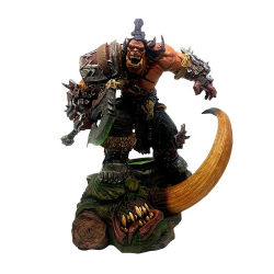 Resina personalizada estátua mundo do jogo Warcraft Estátua de resina