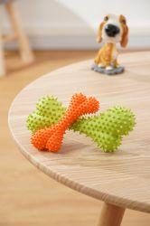 정리 뾰족한 고무 개 씹기 장난감 - 뼈