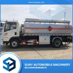 3000L HOWO 경량 오일 탱크 트럭(연료 디스펜서 연료 펌프 포함