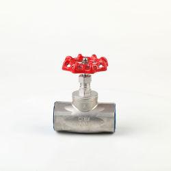 製造のステンレス鋼の女性糸の地球弁の手動ハンドル(NPT/G/Bsp)