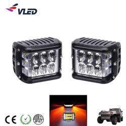 2019 Nuevo 24W luz estroboscópica de lado la barra de luz LED flash de luz de conducción 4X4camiones vehículos todoterreno 9-32V 6000K