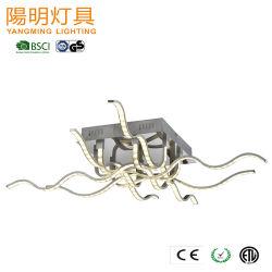 Lampadario a bracci di alluminio moderno dell'acrilico del soffitto della striscia LED della mobilia europea del salone