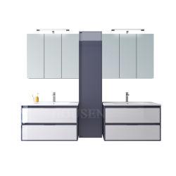 Nuevo diseño lujoso cuarto de baño Cuarto de baño espejo de tocador de lujo en el cuarto de baño muebles Armario archivador