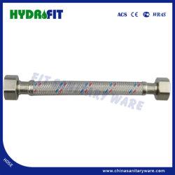 """Tubo flessibile in S. S. intrecciato da 1/2"""" FM con copertura in PVC per doccia, valvola ad angolo, tubo in tessuto Shattaf (HY6310)"""