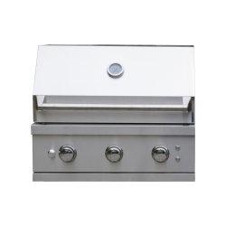 مطبخ خارجي من الفولاذ المقاوم للصدأ معتمد من قبل الاتحاد الأوروبي 3 Burner BBQ Gas مطعم شواء
