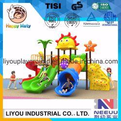 Nuevo barato mejor calidad de los niños y los niños juegan de plástico del parque de diversiones públicas diapositiva al aire libre equipos de juego
