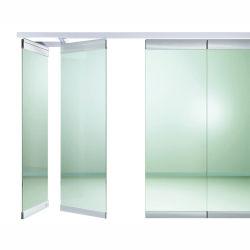 内部Framelessのガラス折れ戸アルミニウムハードウェア