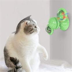 Массаж поцарапать Слегка коснитесь соском ротика смешной котенок ветряной мельницы шаровой шарнир поворотного стола Funny Cat Toy