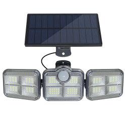 مصابيح LED خارجية تعمل بالطاقة الشمسية بإضاءة الشوارع بقدرة 5 واط مع وحدة تحكم عن بُعد، تلقائي عند الغسق حتى الفجر، مقاومة للماء IP65