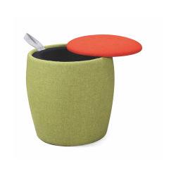 居間円形ファブリックPoufの座席の記憶の腰掛けのオットマン