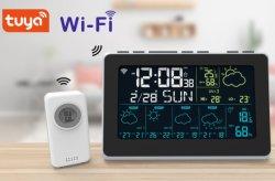 Tuya WiFi termómetro Higrómetro Digital Reloj de estación meteorológica inalámbrica con RF 433