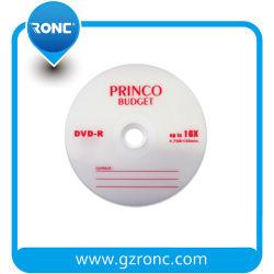Venda por grosso de 16X de alta qualidade 4,7GB Princo disco DVD vazio