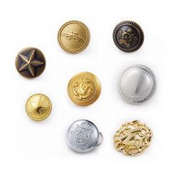 니켈 외투를 위한 자유로운 황금 금속 군복 단추