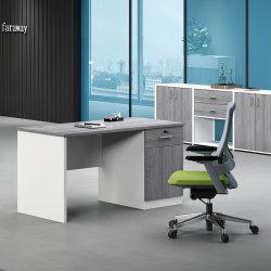 スタッフによって使用される木の事務机のシンプルな設計のコンピュータの机のための中国の供給