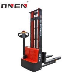 中国工場 OEM/ODM 1000kg-3000kg 倉庫産業用ウォーキングスタンドアップエレクトリック 電動狭角通路注文ピッカーパレットスタッカーバッテリーフォークリフト