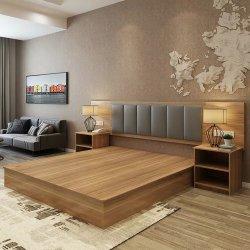 Kundenspezifisches Hotel-antikes Bett-Rahmen-Luxuxschlafzimmer-hölzerne Möbel