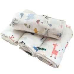 Custom Logo beschikbaar Baby Ontvangstdekens Moslim Baby dekens Organic Bamboo Cotton dekens