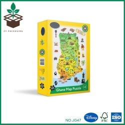 Kundenspezifisches Entwurfs-Karikatur-Karten-Kind-Spielwaren-Puzzle