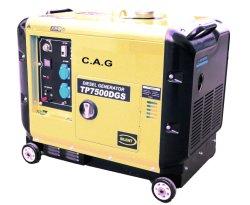 5000 /10000 Watt 5kVA/10 kVA diesel portable de sauvegarde Accueil génératrice de secours