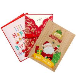 Custom 3D Natal pop up convites casamento aniversário cartões Design de papel de imprimir