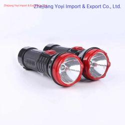 Moins cher en plastique ABS Lampe torche à LED rechargeable Lampe torche LED 1 W