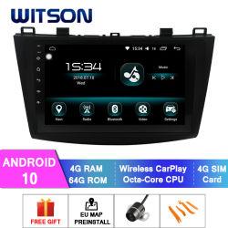 Android Witson 10 Car Multimedia player para 2013-2016 Mazda Mazda 3 4GB de RAM 64GB Flash grande ecrã no aluguer de DVD