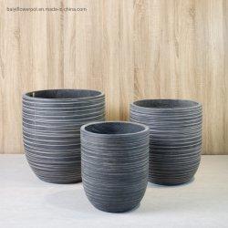 Piantatrice chiusura fondo ovale cemento decorazione vaso fiore