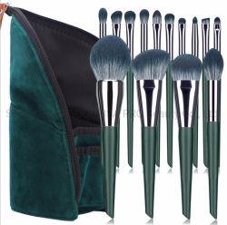 Haut de la qualité 14pcs ensemble de la fondation de la brosse de maquillage poudre Fard cosmétiques Outils avec sac de maquillage