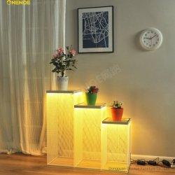 Onenoe High Quality مستطيل بسيط أنيق منظم مربع مكعب مضاد للدقة علبة حامل شاشة LED معدنية من النسيج الشبكي في جهاز 3 في 1 مجموعات كاملة لشرفة مكتب غرفة العرض