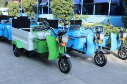 480L mini placa de acero en frío de clasificación de basura camión de recogida de residuos triciclo