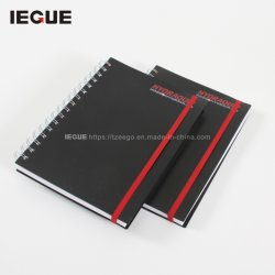 Design Preto 2021 OEM de fio de capa dura-O Notebook A4 A5 Office Notebook em espiral