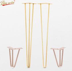 Vento simples de galvanoplastia Ferragens fio metálico de ferro de Segurança do Office a perna da mesa