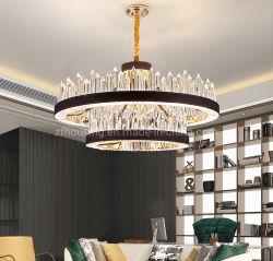 Индивидуальные кожаные и металлические украшения дома K9 Crystal лампа LED подвесной Lightingzf-Cl-024