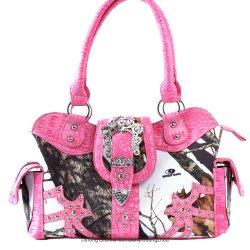 隠される女カーボーイの大きい西部は武器の財布のカムフラージュのCamoのベルトの留め金のハンドバッグを運ぶ