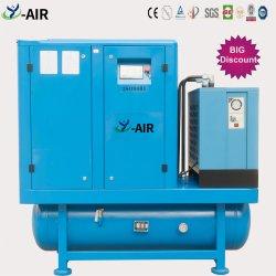 Oficina de reparação de automóveis usados 11kw 15Compressor de ar portátil HP Integrated resfriado a ar do ímã permanente do Compressor de ar de parafuso combinado com tanque de ar e secador de ar