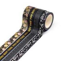 문구용품 Scrapbooking 보호 테이프를 각인하는 문구용품 Washi 금박지 별을 끈으로 엮으십시오