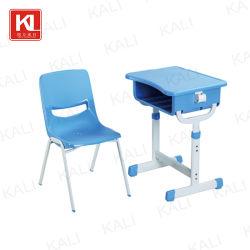 Metal de plástico as crianças em sala de aula aluno da escola para crianças estudo mesa e cadeira de mobiliário (KL-3064)