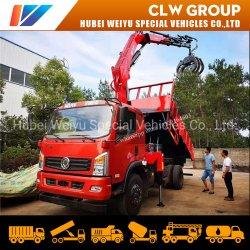 6.3 トン移動式トラッククレーン 4 セクションブームホイスト機械用 木材の持ち上げと運搬