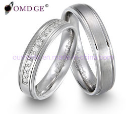 Design clássico simples bodas de prata anel de banda