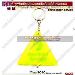 Fabricant de porte-clés fournisseur de clés flash personnalisé clé en anneau lumineux 2D Chaîne en plastique standard, souple, PVC, porte-clés à réflexion LED (G8058)